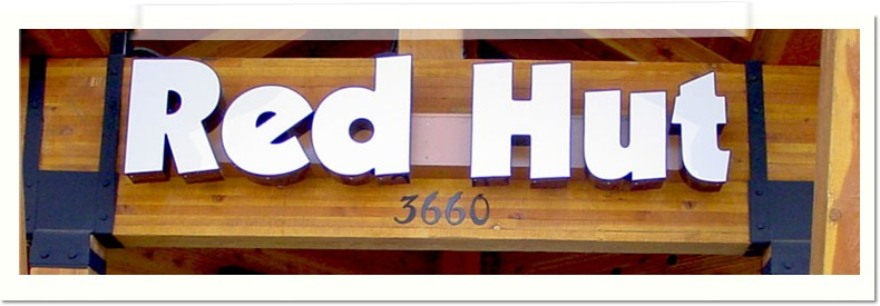 Red Hut Channel Letters