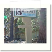Barts Tahoe Apartments Backlit Sign